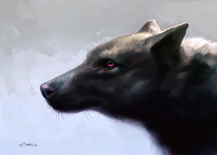 illustration de LaVata E. O'neal représentant un loup noir