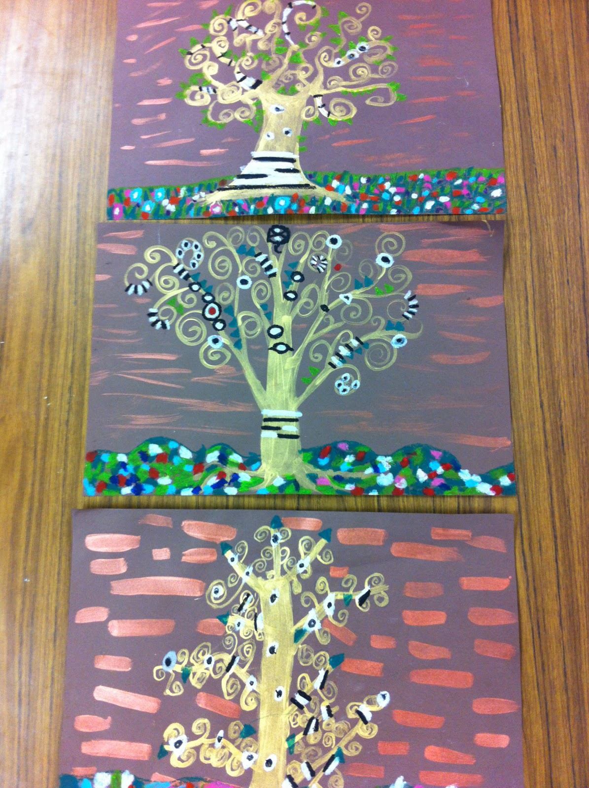 Klimt Tree Of Life Art Lesson Drip, Drip, Spl...