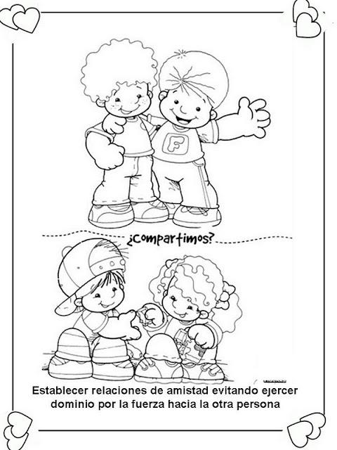 LAMINAS PARA COLOREAR - COLORING PAGES: Deberes y Derechos del Niño ...