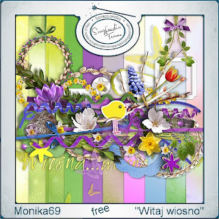 "Free scrapbook collab kit ""Wellcome Springtime"" by monika69"