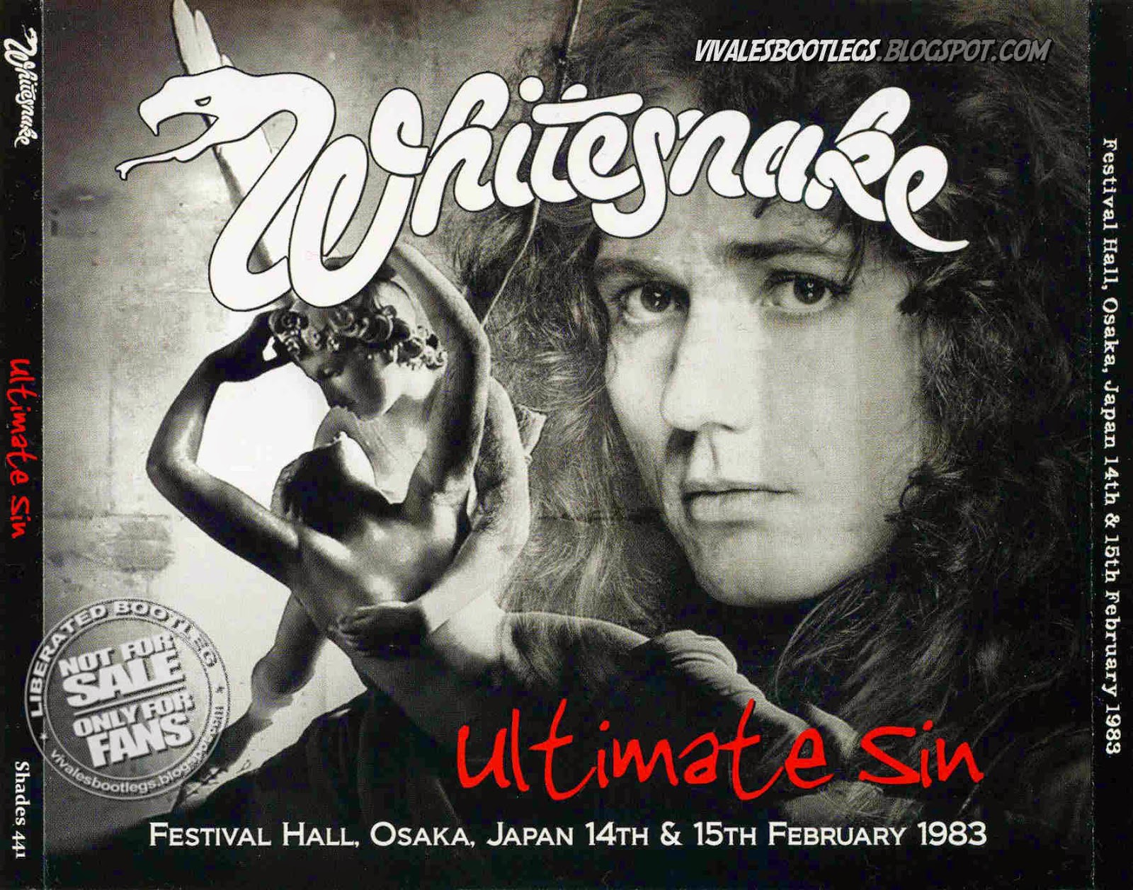 Whitesnake Ultimate Sin front cover