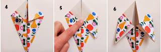 cara membuat origami burung merpati