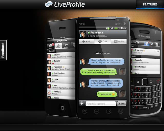 Live Profile para chatear con Iphone, BlackBerry,HTC, Android y mas.