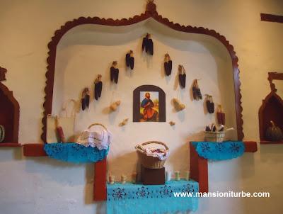 Altar a San Isidro Labrador en la Exposición sobre la historia del maíz