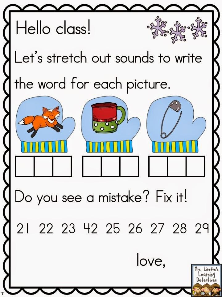 http://www.teacherspayteachers.com/Product/Meaningful-Morning-Messages-for-January-Kindergarten-1632716