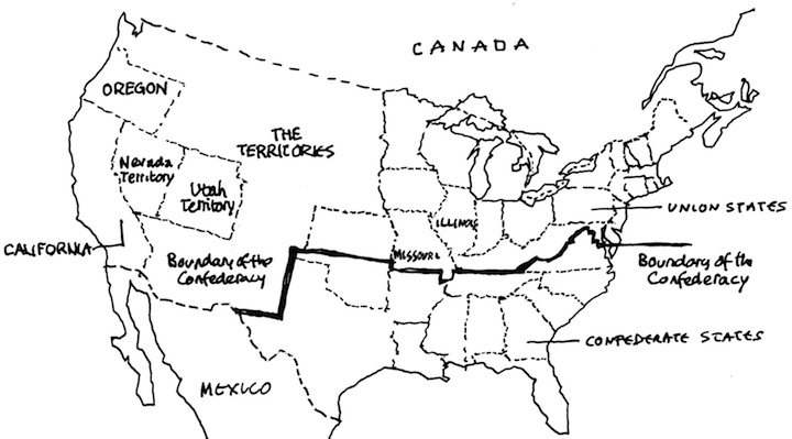 Black And White Map Of Western Us - Black and white map of western us