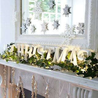 Fireplace Mantel Home Decoration Idea in Christmas Festival