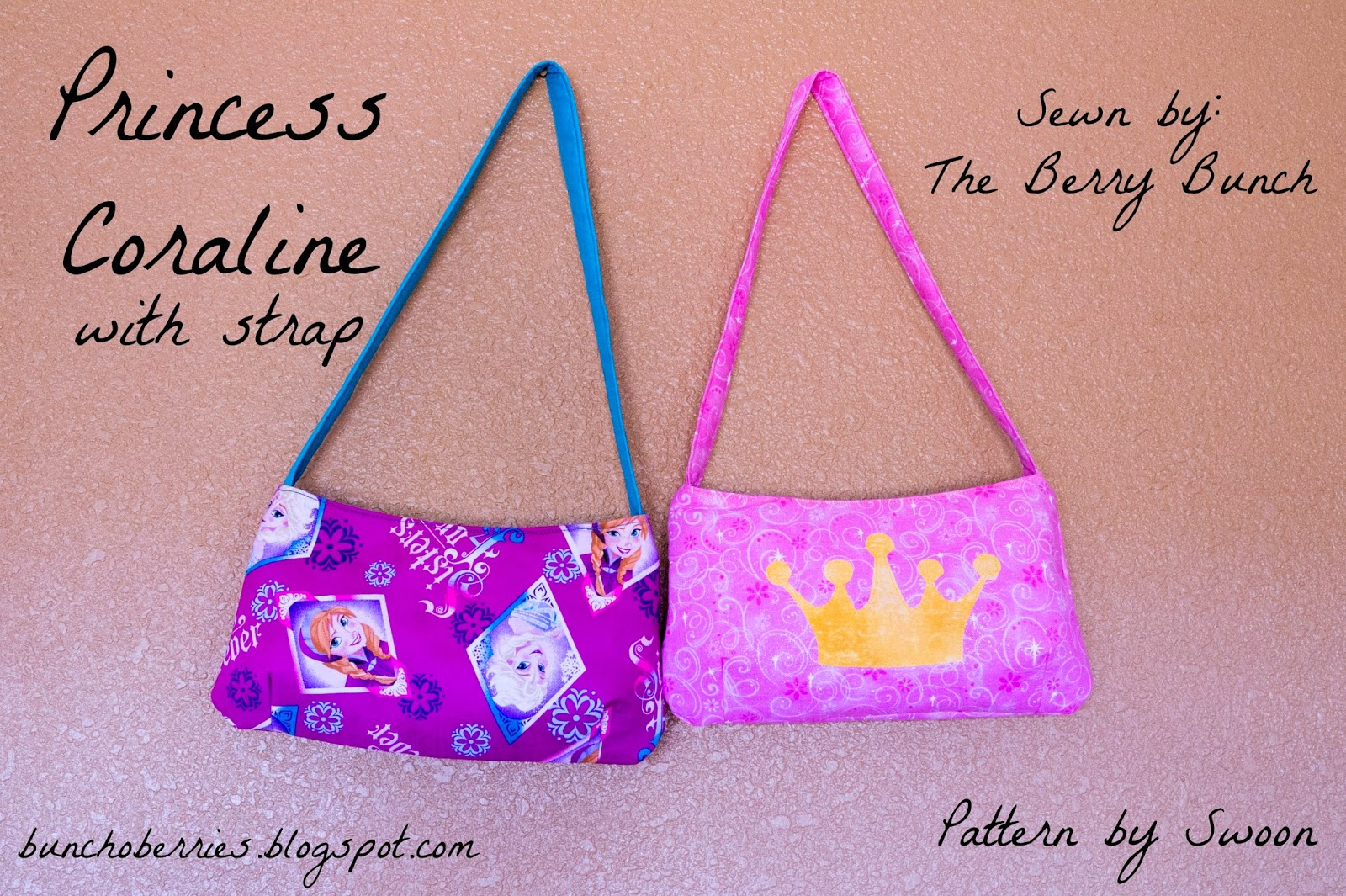 The Berry Bunch: Princess Coraline Clutches with Straps {swoon sewing patterns)