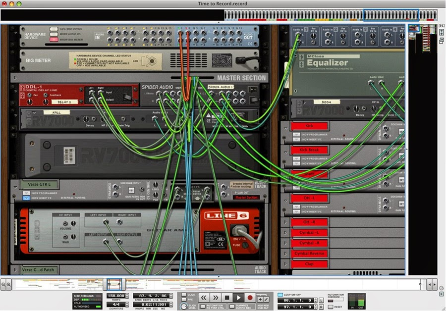 Propellerhead Reason 7 screen 1