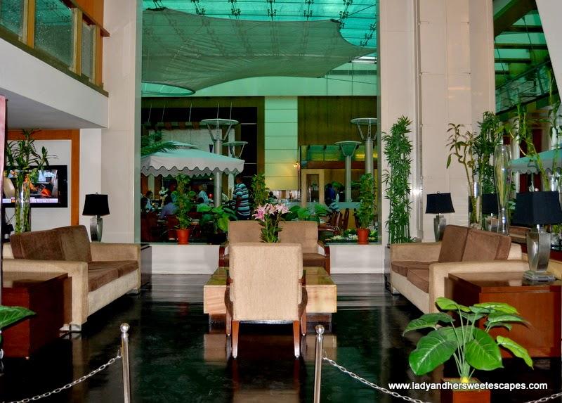 Ramada Jaipur's elegant lobby