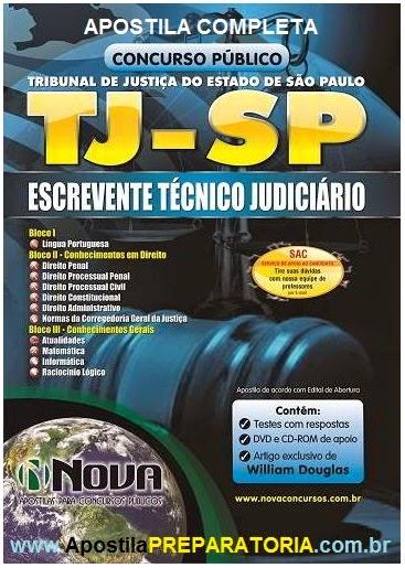 Apostila Concurso TJ São Paulo Escrevente Técnico Judiciário 2014
