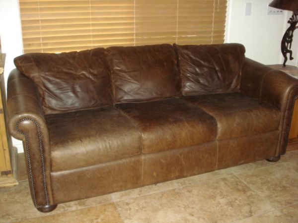 Robb And Stucky Leather Sofa. $300