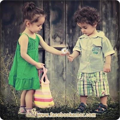 fotos de niños con flor
