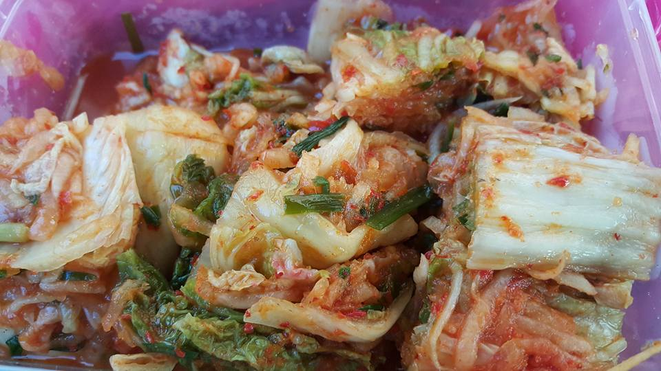 Kimchi from korean heritage restaurant miri miri food for X cuisine miri