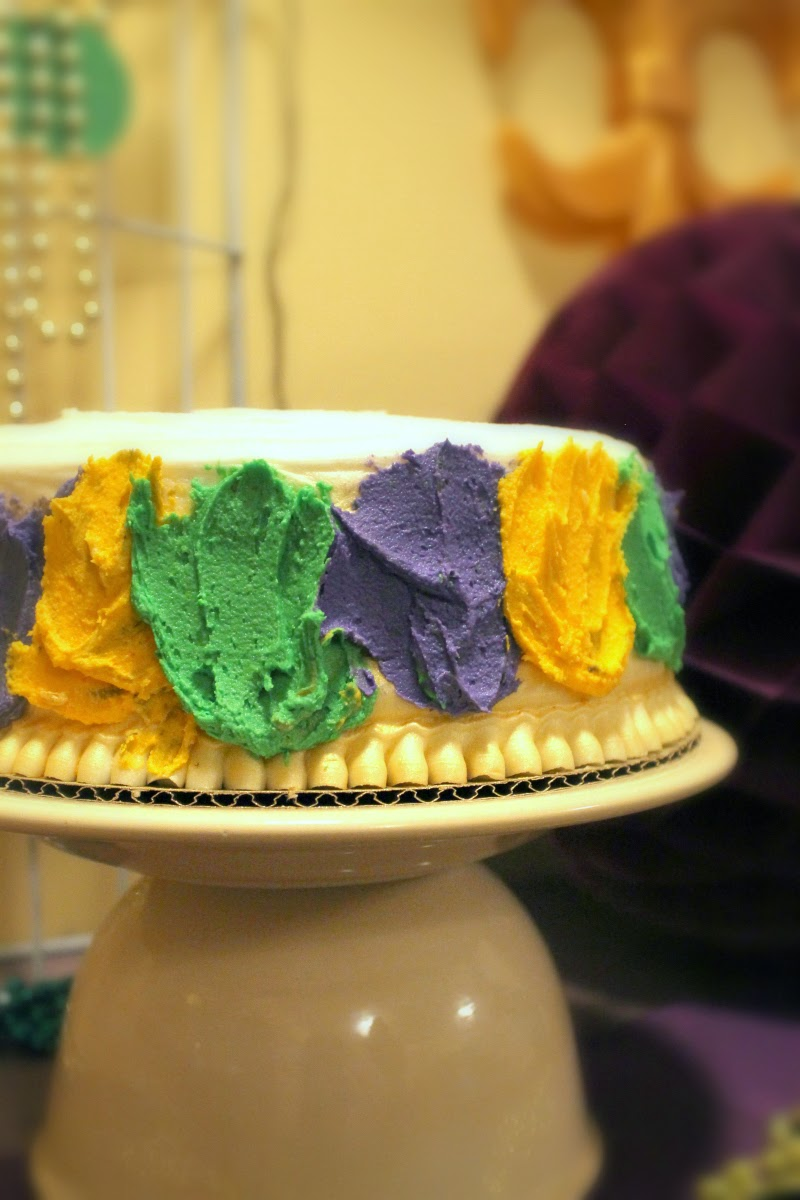 cake ideas, mardi gra party