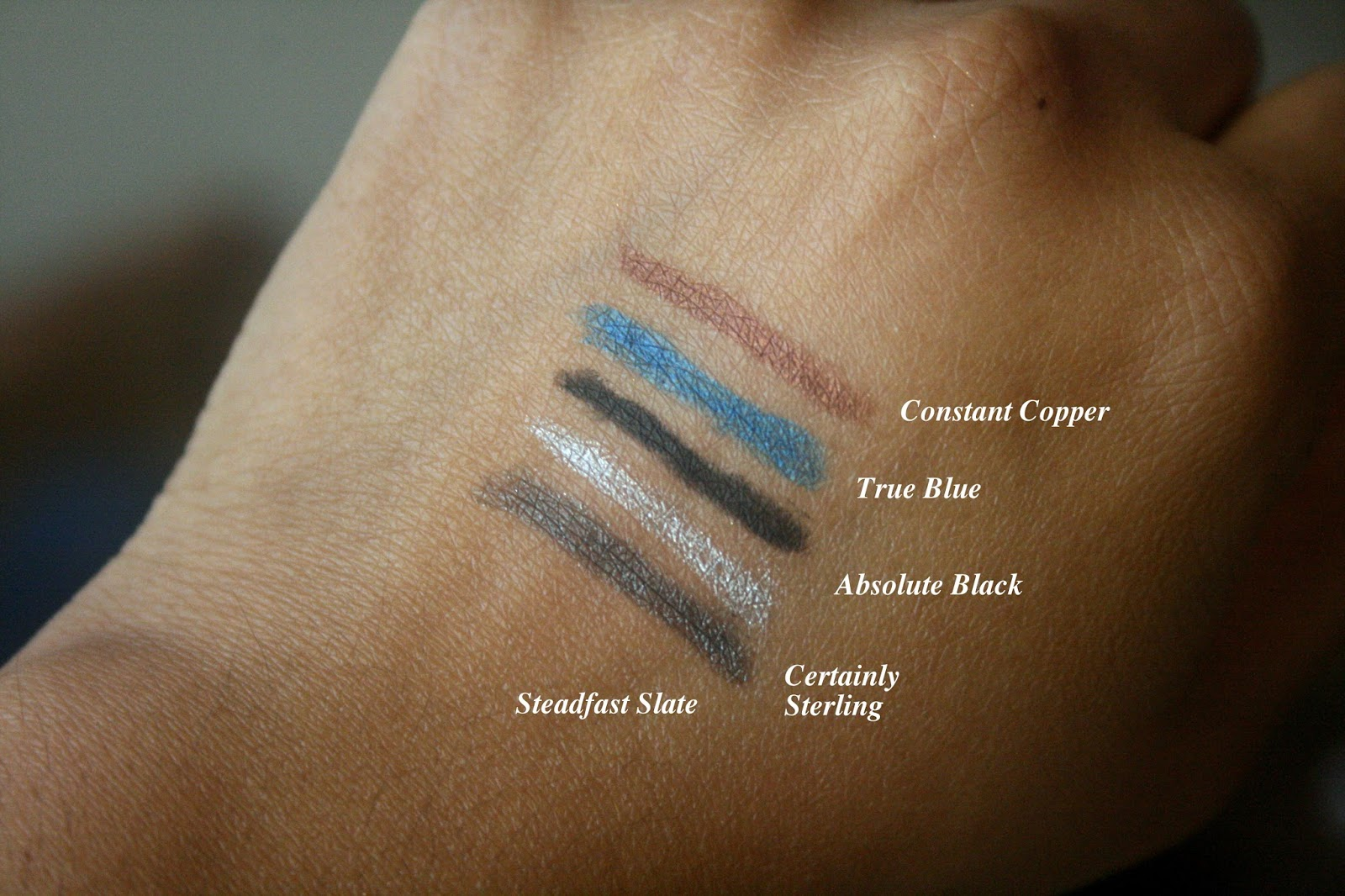 bareminerals I heart the night life lasting line eyeliner set swatches