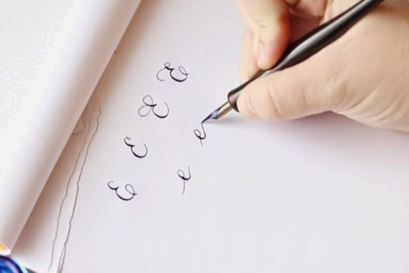 The Letter E Basic Calligraphy Tutorial Erin Nielson