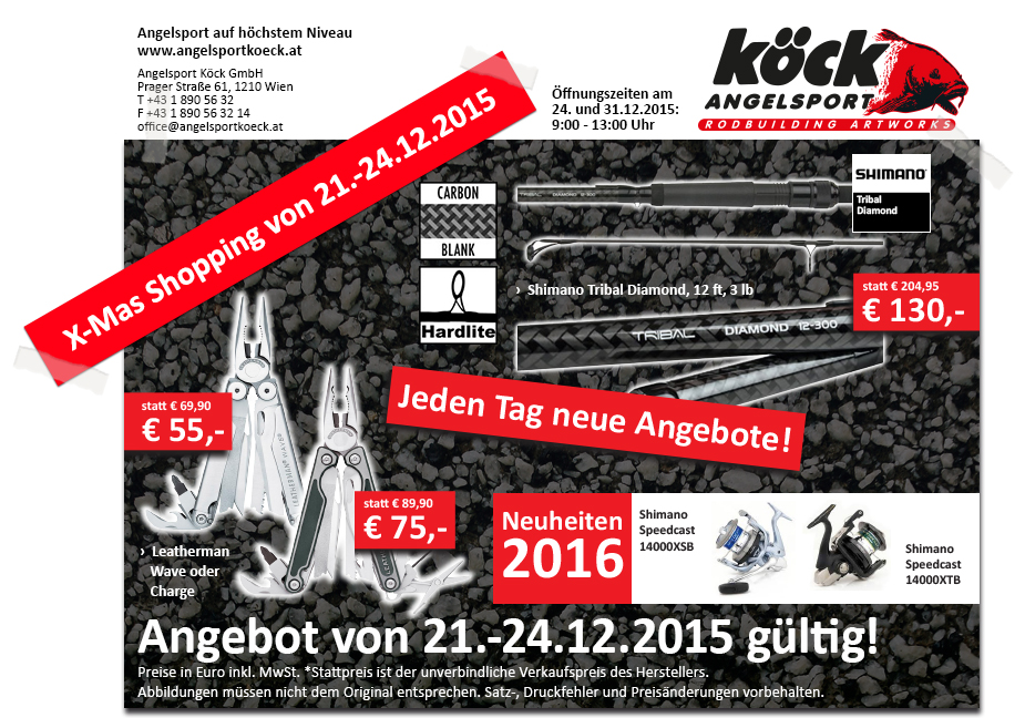 Scaly Creatures: ANGELSPORT KÖCK- CHRISTMAS SHOPPING