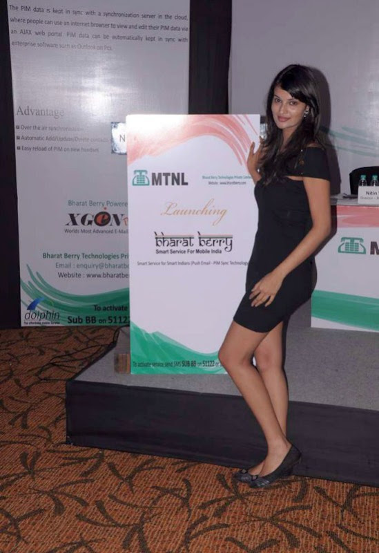 Actress Sayali Bhagat in a Black Short Skirt & Long Legs