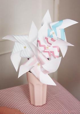 molinos de viento de papel