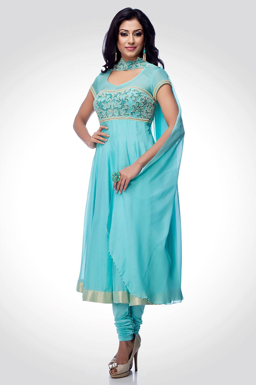 Creative  Frocks 2013 Indian Womens New Latest Fashion Dress Designs 2013