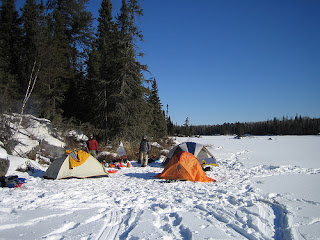 Image of winter camping