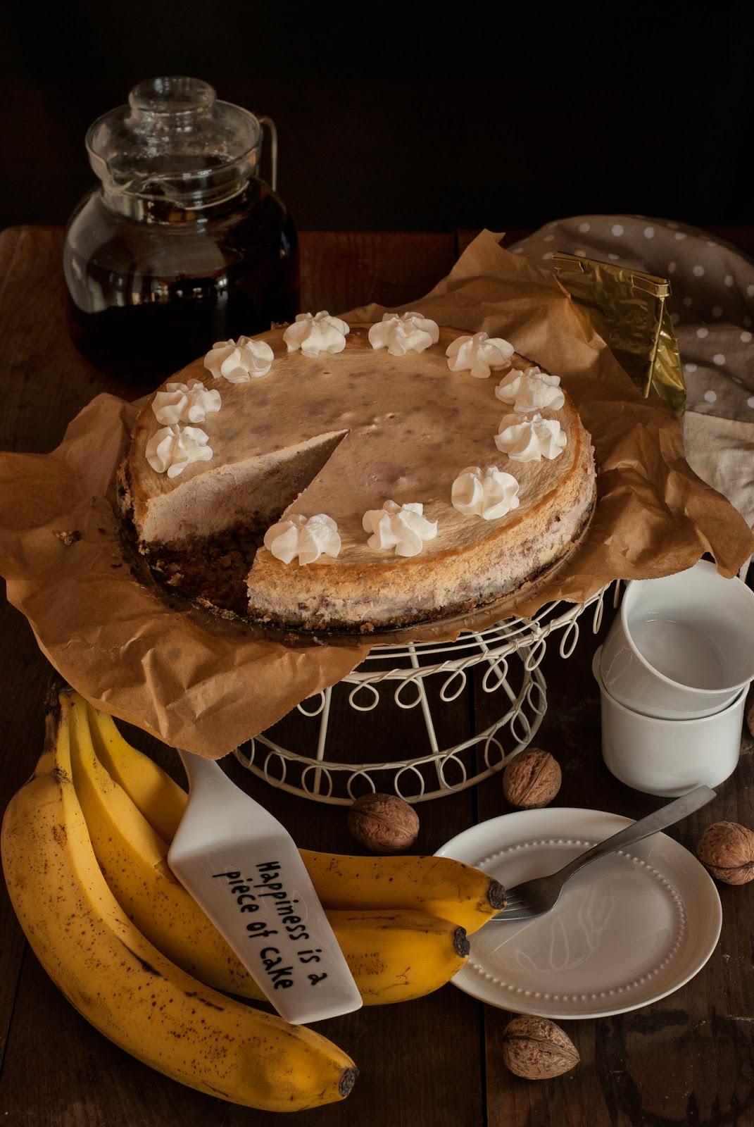 Sernik bananowo-orzechowy na owsianym spodzie