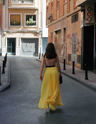 Yellow Pleated Skirt 5