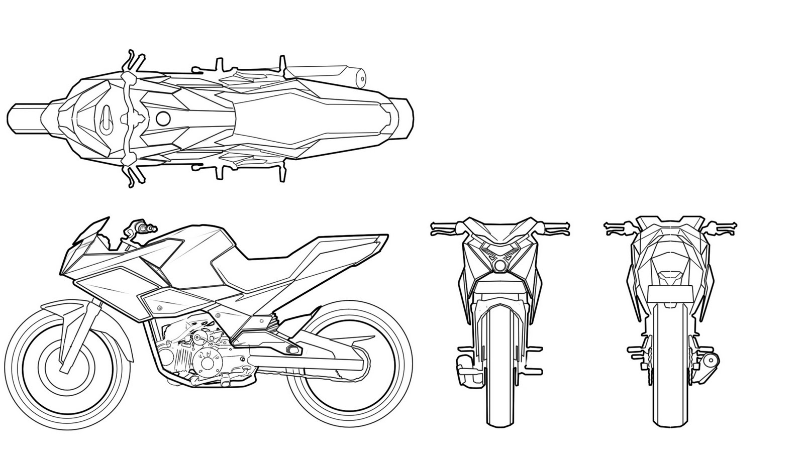 Line Drawing Motorcycle : Diploma project growth market bike for visteon