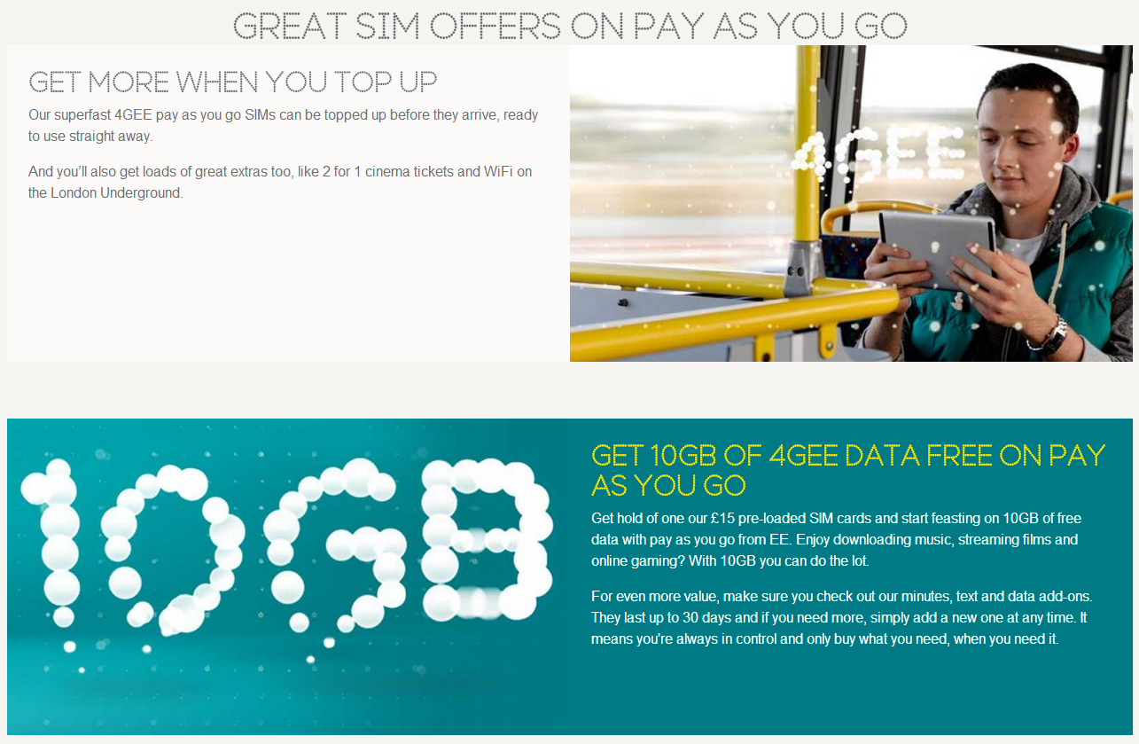 Best sim deals pay as you go