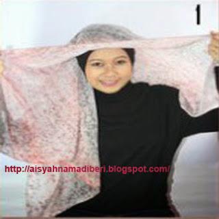 Cara Memakai Jilbab Kreasi Jilbab Paris Segiempat Korsase