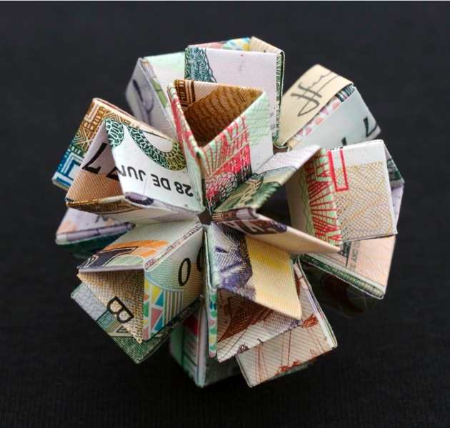 Kristi Malakoff polyhedra money pieces