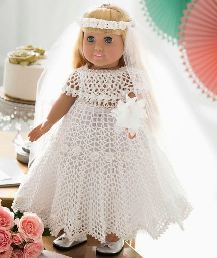Doll Wedding Dress - Free Pattern