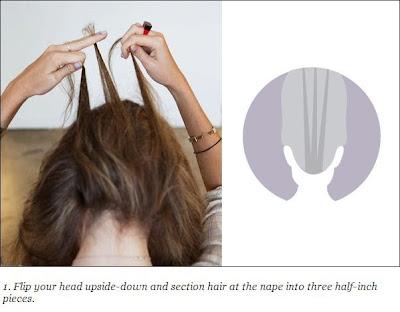 French braid bun hairstyle