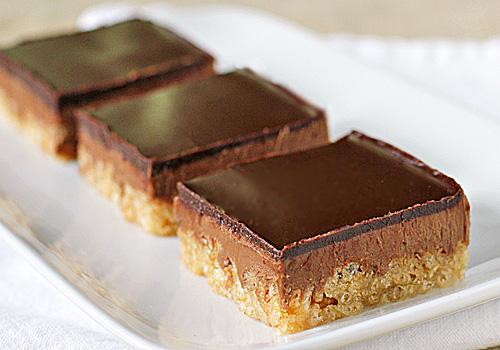 Chocolate Peanut Butter Crispy Bars