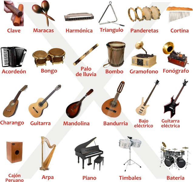 Nombre instrumentos musicales - Imagui