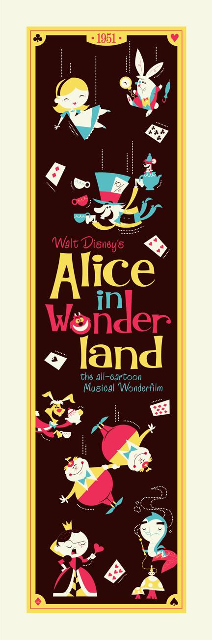 THE ROCK POSTER FRAME BLOG: Dave Perillo Alice in Wonderland Poster ...