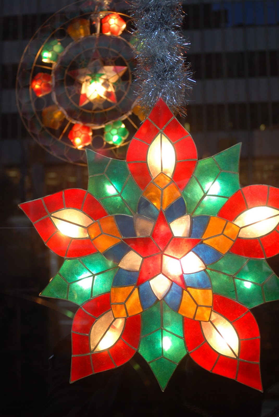 The Christmas Window Display At The Philippine Consulate (philippine  Center) On Fifth Avenue Feature Philippine Christmas Lanterns Made Of  Beautiful Capiz