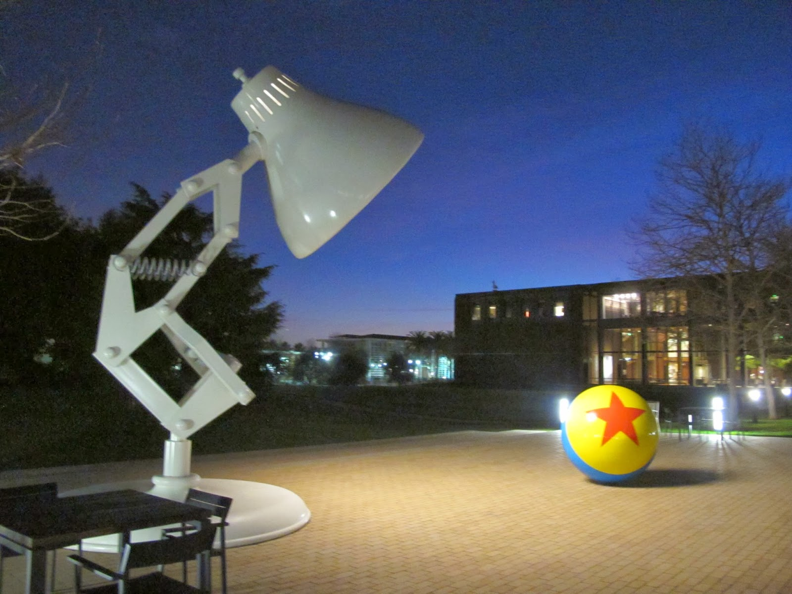 This Luxo jr statue stands outside the pixar studios at Berkely. A testiment to the importance of the character.