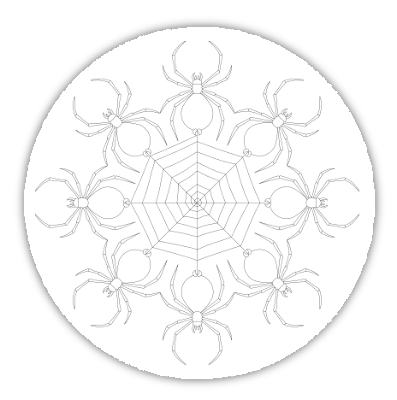spider web free hand embroidery pattern