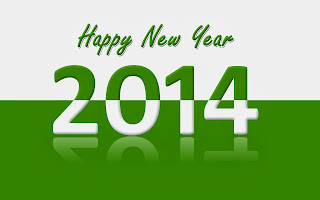 Happy_New_Year_wallpapers_2014__green_and_white_color