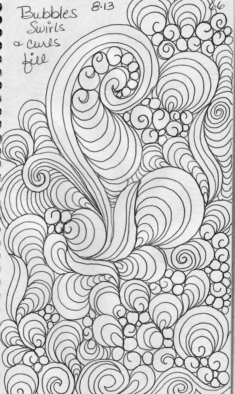 Luann Kessi Sketch Book Leaf Designs 5