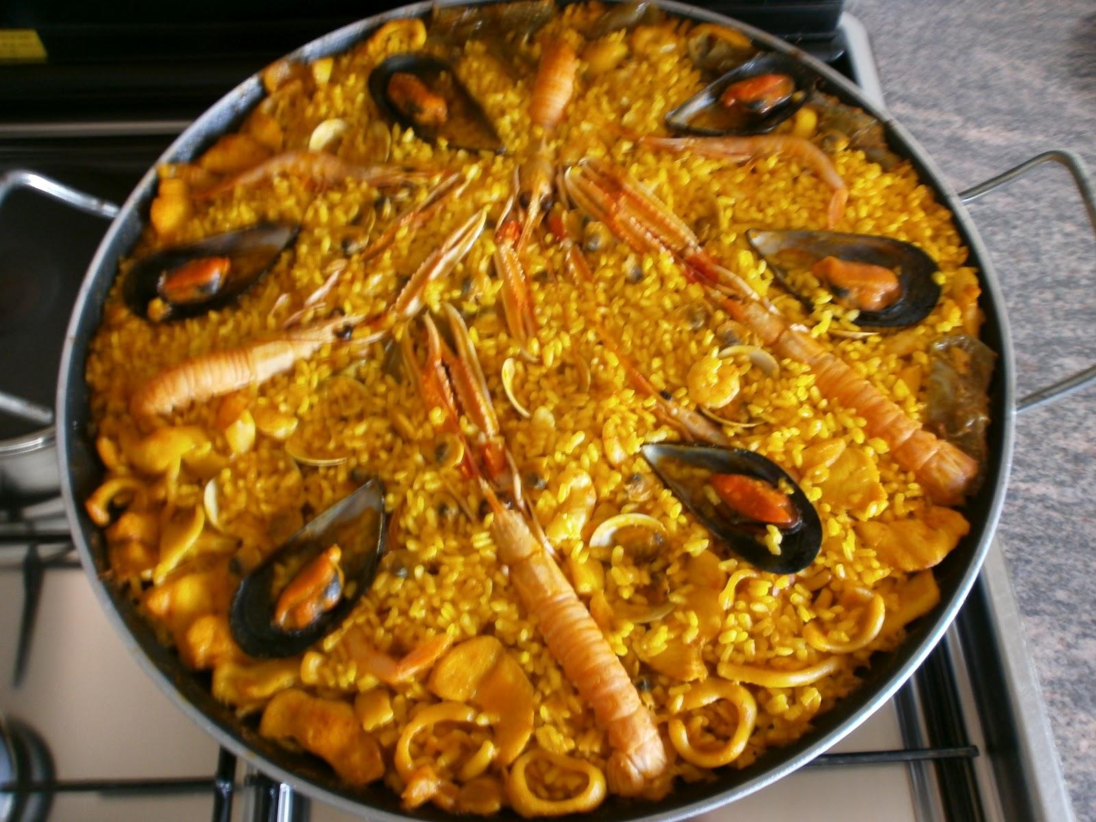 Paella de marisco cocina con sara - Cocina con sara paella ...