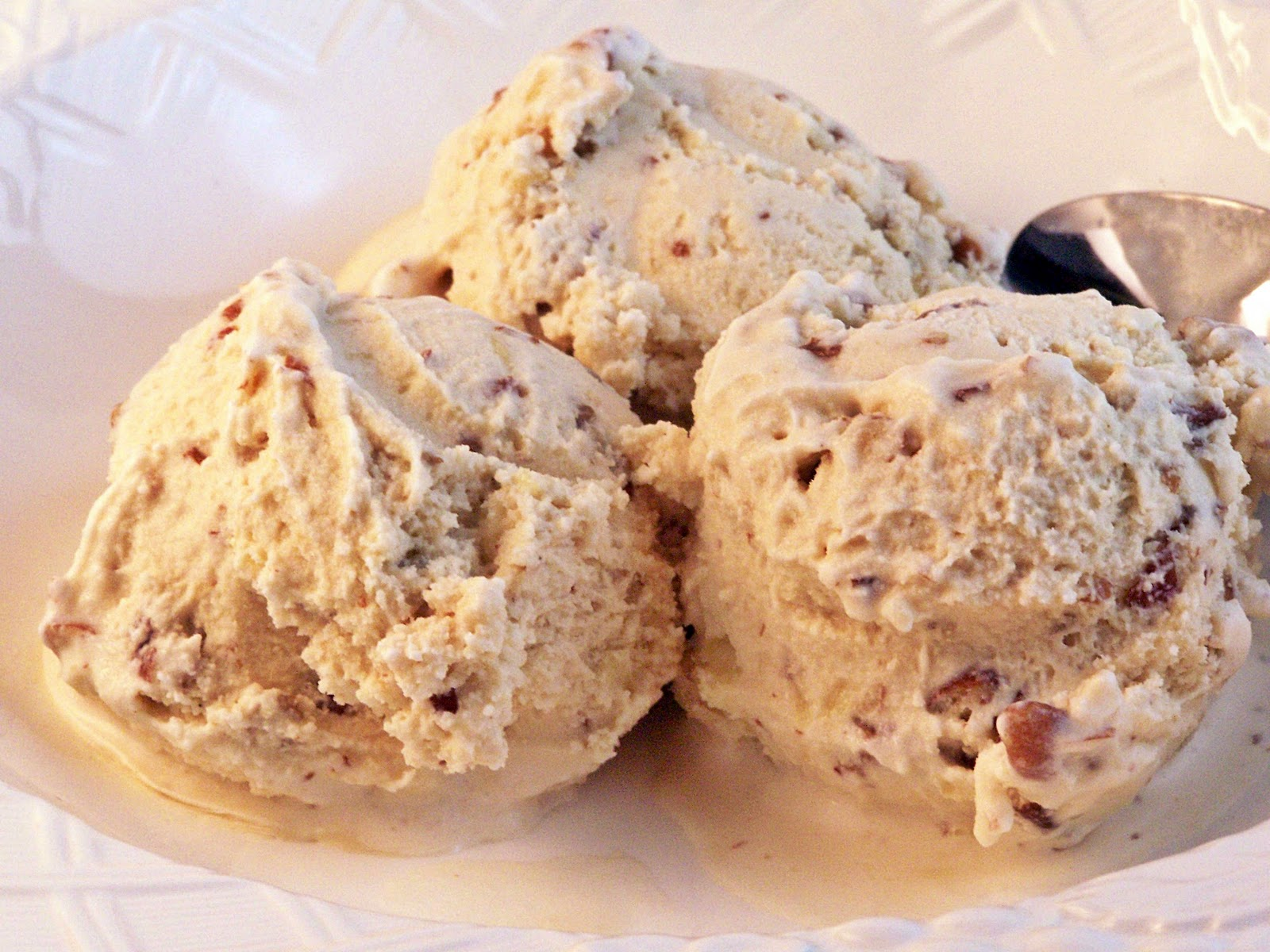 Butter Pecan Ice Cream for Ice Cream Sunday