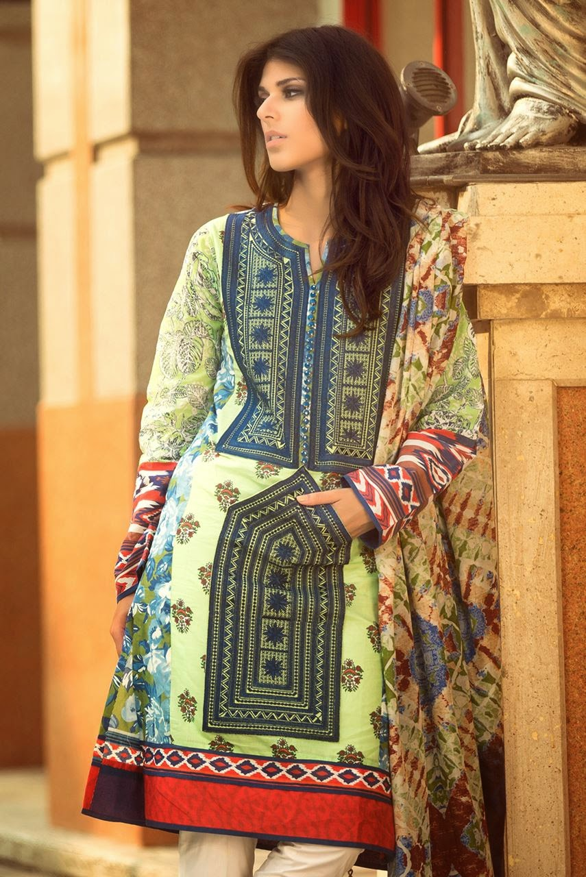 Womens wear fashion summer lawn collections
