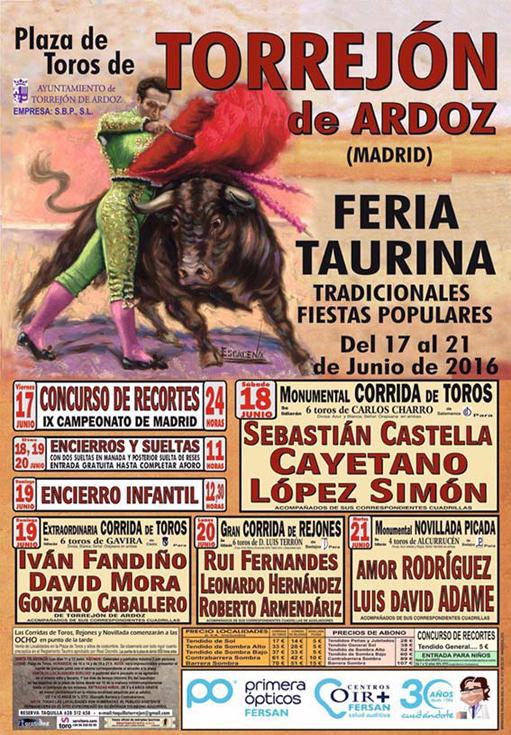 TOROS DESDE TORREJÓN DE ARDOZ 19/06/2016 Gracias a CASTILLA LA MANCHA TV