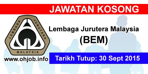 Jawatan Kerja Kosong Lembaga Jurutera Malaysia (BEM) logo www.ohjob.info september 2015