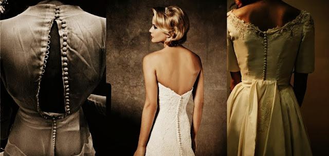 Свадебные платья с пуговицами на спине в разные времена