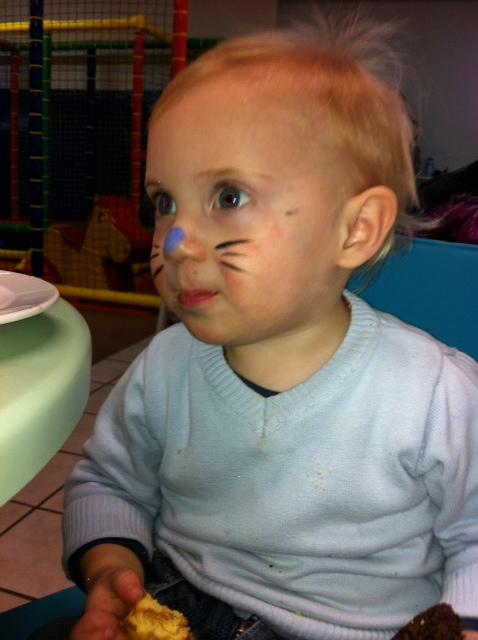 Cat Boy Face Painting