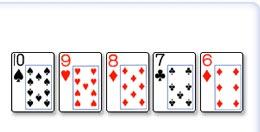 Straight (5 karti poredjanih u nizu)